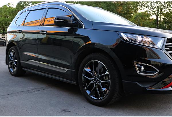 福特锐界黑色车身轮毂改电镀
